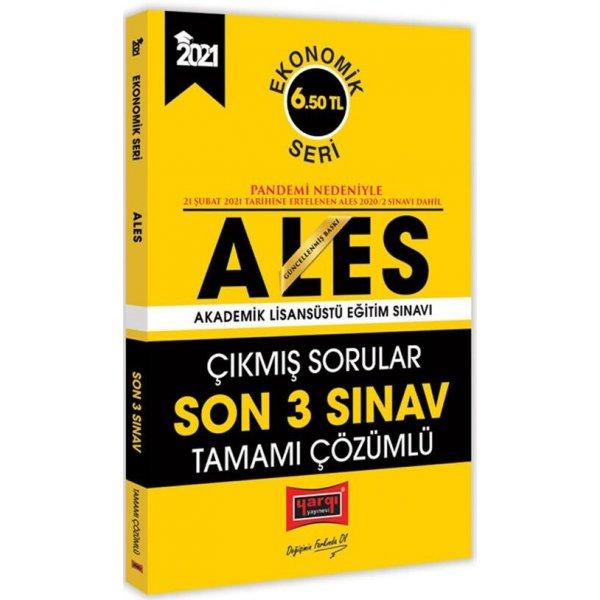 2021 ALES Ekonomik Seri Son 3 Sınav Tamamı Çözümlü Çıkmış Sorular Yargı Yayınları