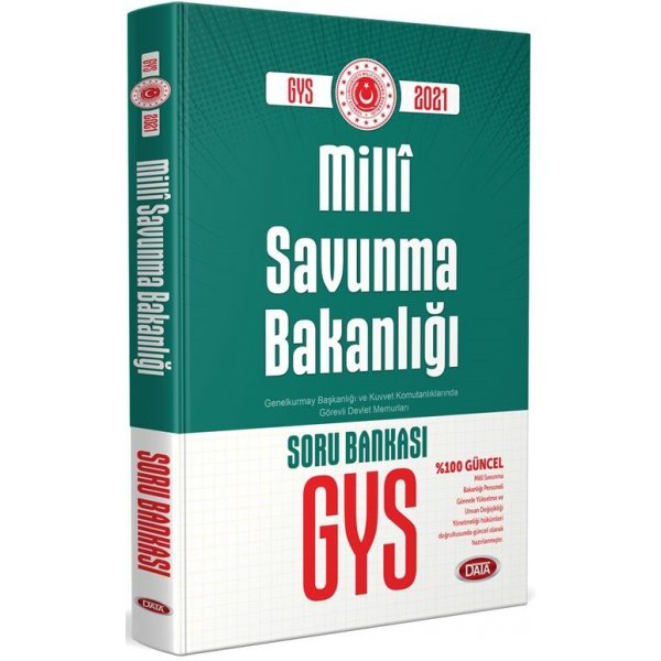 2021 GYS Milli Savunma Bakanlığı Soru Kitabı Data Yayınları