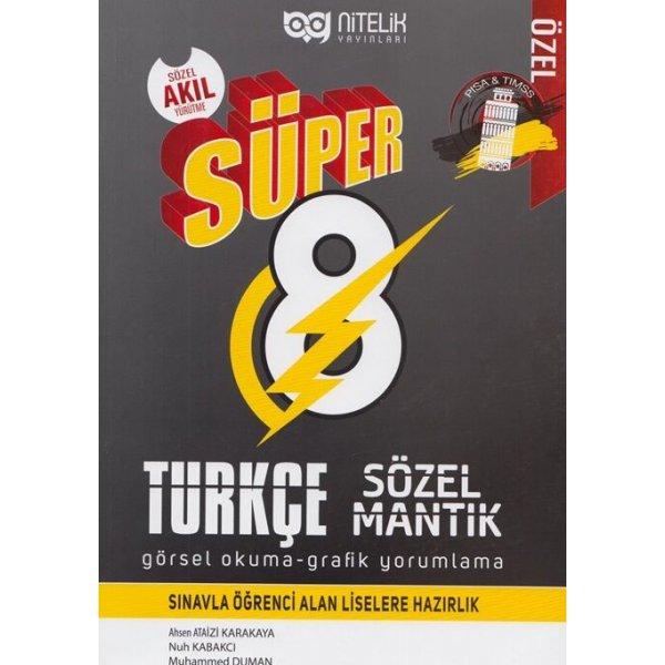 Nitelik Yayınları 8. Sınıf Türkçe Süper Sözel Mantık Görsel Okuma ve Grafik Yorumlama Soru Kitabı