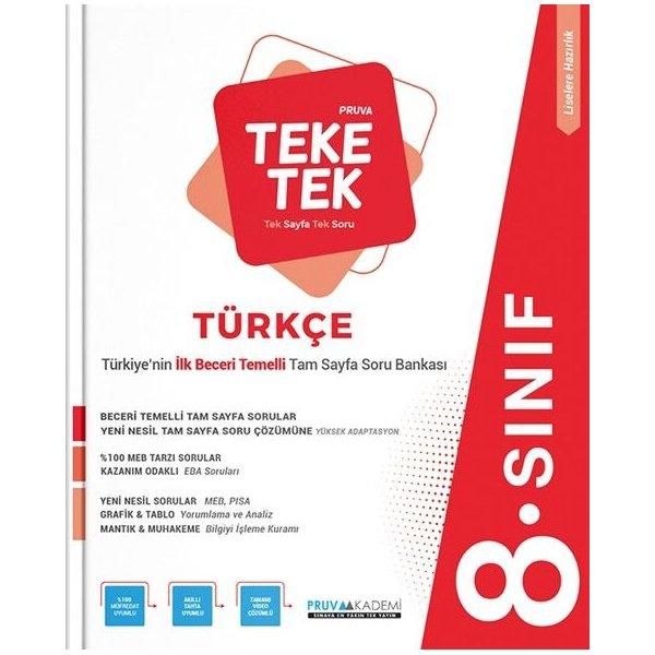 Pruva Akademi 8. Sınıf Türkçe Pruva Teke Tek