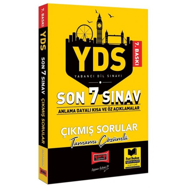 YDS Son 7 Sınav Tamamı Çözümlü Çıkmış Sorular Yargı Yayınları