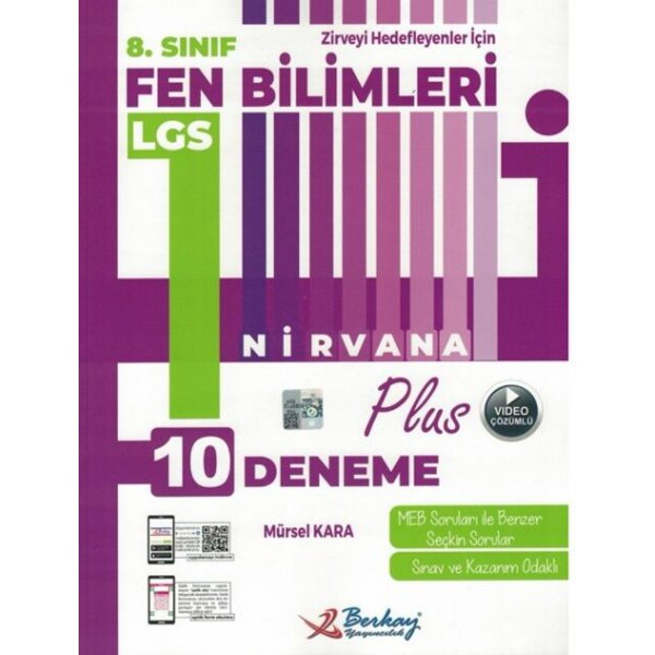 Berkay Yayıncılık 8. Sınıf LGS Fen Bilimleri Nirvana Plus 10 Deneme