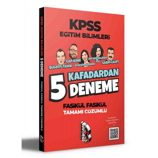 2021 KPSS Eğitim Bilimleri 5 Kafadardan Tamamı Çözümlü 5 Deneme Benim Hocam Yayınları