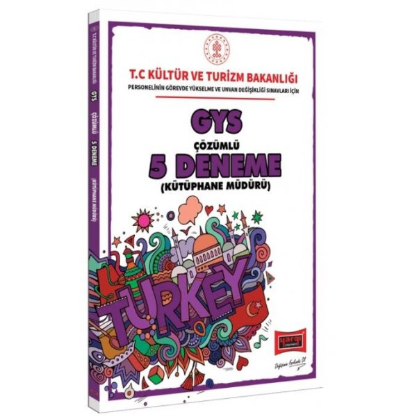 GYS T.C. Kültür ve Turizm Bakanlığı Kütüphane Müdürü İçin Çözümlü 5 Deneme Yargı Yayınları