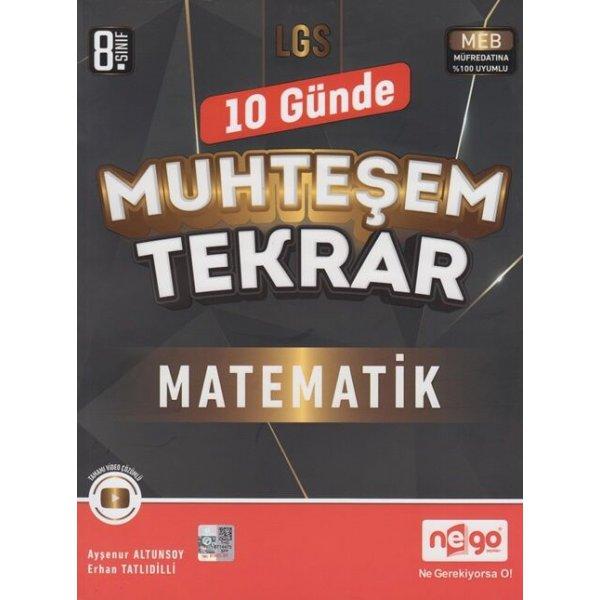 Nego Yayınları 8. Sınıf LGS Matematik 10 Günde Muhteşem Tekrar
