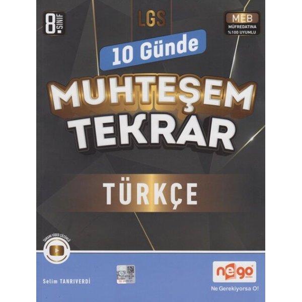 Nego Yayınları 8. Sınıf LGS Türkçe 10 Günde Muhteşem Tekrar