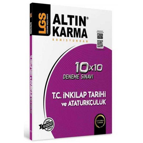 8. Sınıf LGS T.C İnkılap Tarihi ve Atatürkçülük 10x10 Deneme Altın Karma Yayınları