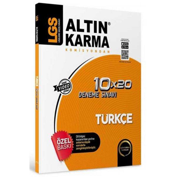 8. Sınıf LGS Türkçe 10x20 Deneme Altın Karma Yayınları