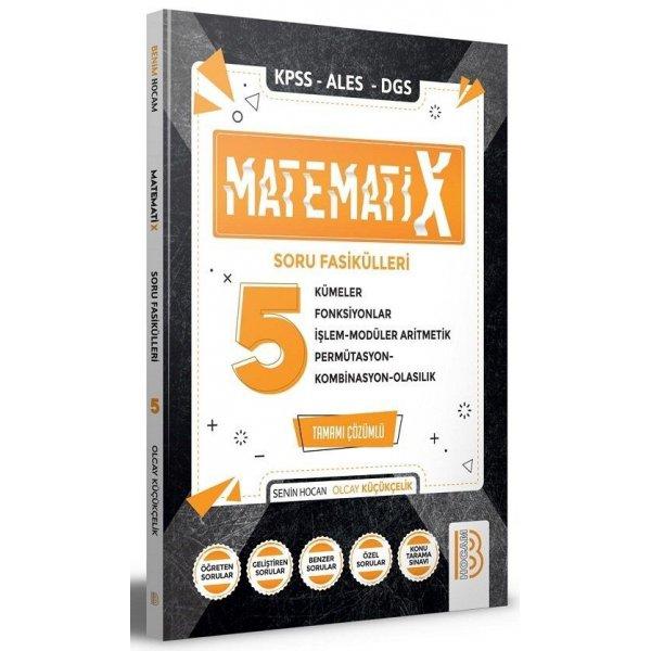 2021 KPSS ALES DGS Matematix 5 Matematik Soru Fasikülleri Çözümlü Benim Hocam Yayınları