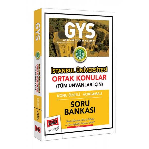 GYS İstanbul Üniversitesi Ortak Konular Konu Özetli - Açıklamalı Soru Bankası Yargı Yayınları