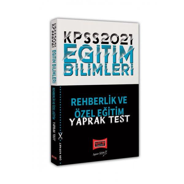 2021 KPSS Eğitim Bilimleri Rehberlik Yaprak Test Yargı Yayınları