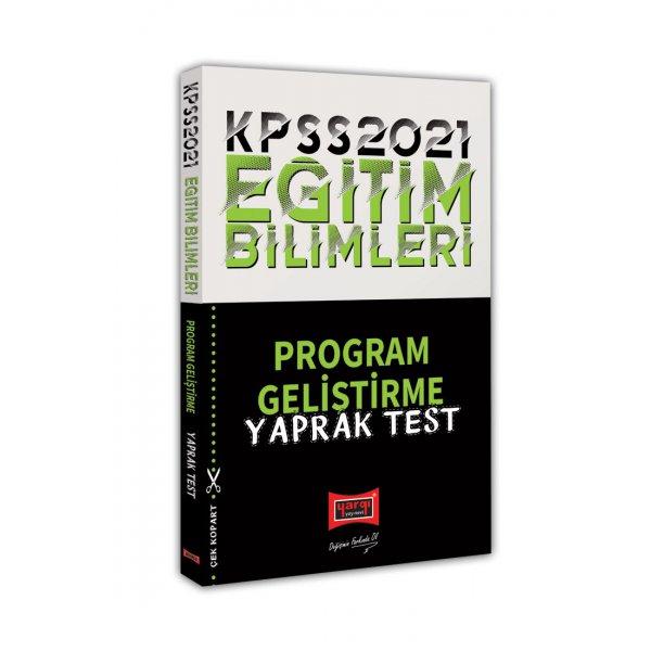 2021 KPSS Eğitim Bilimleri Program Geliştirme Yaprak Test Yargı Yayınları