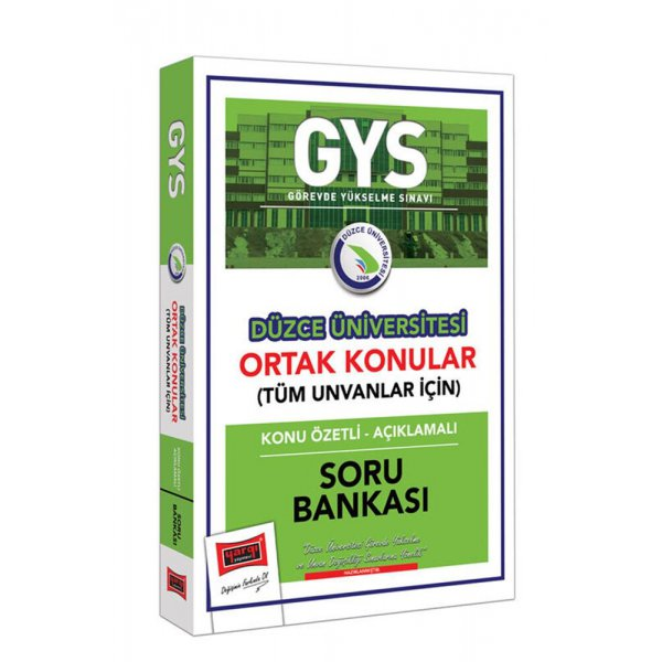 GYS Düzce Üniversitesi Ortak Konular Konu Özetli Açıklamalı Soru Bankası Yargı Yayınları
