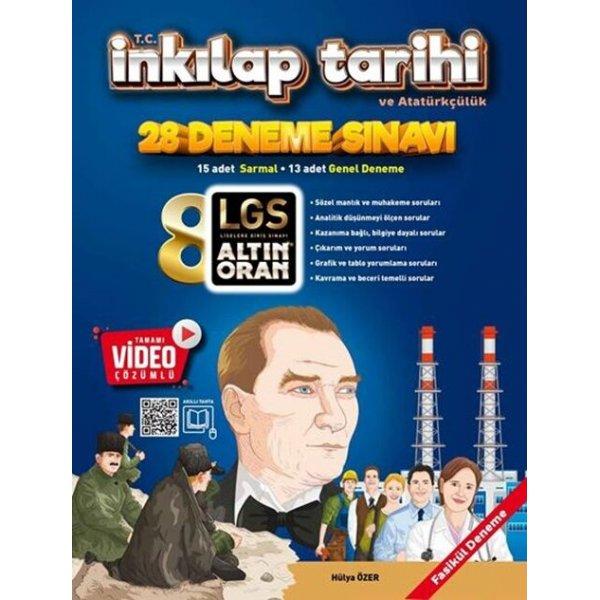 Altın Oran Yayınları 8. Sınıf T.C. İnkılap Tarihi ve Atatürkçülük Tamamı Video Çözümlü 20 Deneme