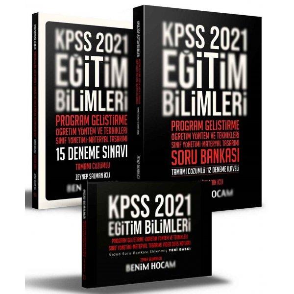 Benim Hocam 2021 KPSS Eğitim Bilimleri Program Geliştirme-Öğretim Yöntem Teknikleri Video Ders + Soru + 15 Deneme 3 lü Set -