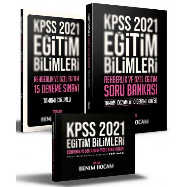 Benim Hocam 2021 KPSS Eğitim Bilimleri Rehberlik ve Özel Eğitim Video Ders + Soru Bankası + 15 Deneme 3 lü Set - Can Köni Ben