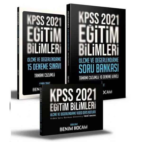 Benim Hocam 2021 KPSS Eğitim Bilimleri Ölçme ve Değerlendirme Video Ders + Soru Bankası + 15 Deneme 3 lü Set - Sabri Zahit Be