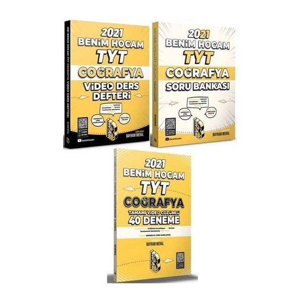 2021 YKS TYT Coğrafya Video Ders Defteri+Soru Bankası+40 Deneme 3 lü Set - Bayram Meral Benim Hocam Yayınları