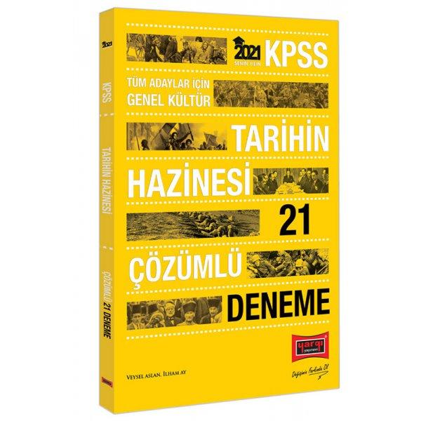 2021 KPSS Tarihin Hazinesi Çözümlü 21 Deneme Yargı Yayınları