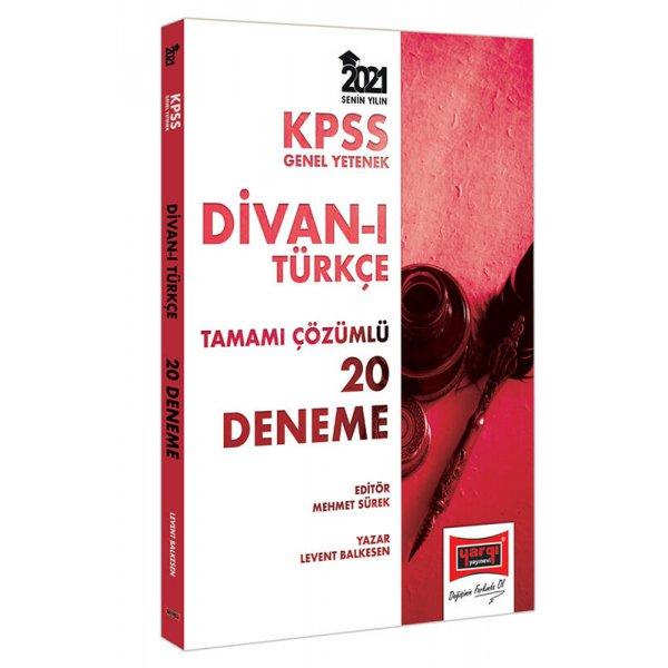 2021 KPSS Divanı Türkçe Tamamı Çözümlü 20 Deneme Yargı Yayınları