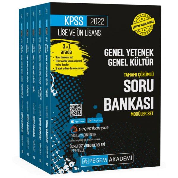 2022 KPSS Lise ve Önlisans Genel Yetenek Genel Kültür Tamamı  Çözümlü Soru Bankası Seti Pegem Yayınları