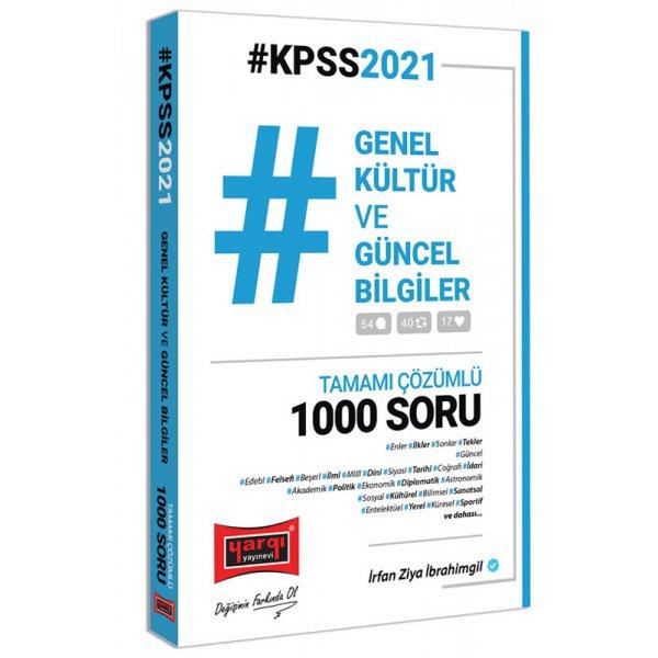 2021 KPSS Genel Kültür ve Güncel Bilgiler Tamamı Çözümlü 1000 Soru Yargı Yayınları
