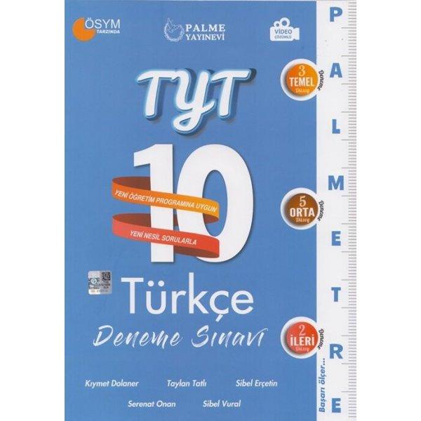 Palme Yayınları TYT Türkçe Palmetre Serisi 10 Deneme Video Çözümlü