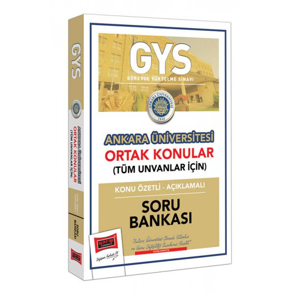 GYS Ankara Üniversitesi Ortak Konular Konu Özetli - Açıklamalı Soru Bankası Yargı Yayınları