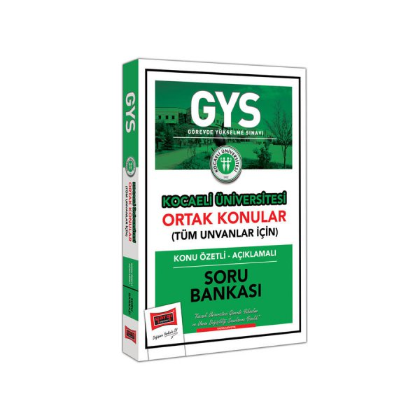 GYS Kocaeli Üniversitesi Ortak Konular Konu Özetli - Açıklamalı Soru Bankası Yargı Yayınları