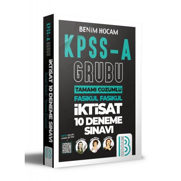 2021 KPSS A Grubu Tamamı Çözümlü İktisat 10 Deneme Sınavı Benim Hocam Yayınları