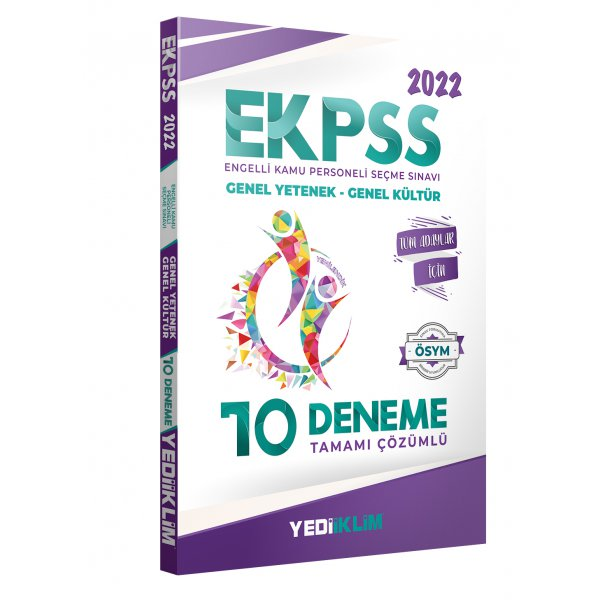 2022 EKPSS Tüm Adaylar Tamamı Çözümlü 10 Deneme Yediiklim Yayınları