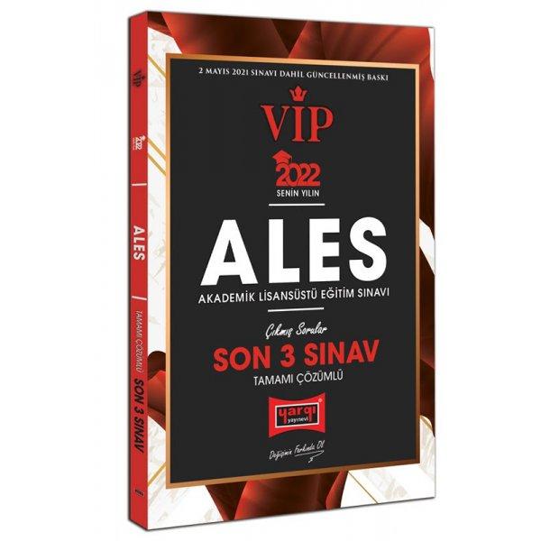 2022 ALES VIP Tamamı Çözümlü Son 3 Sınav Çıkmış Sorular Yargı Yayınları