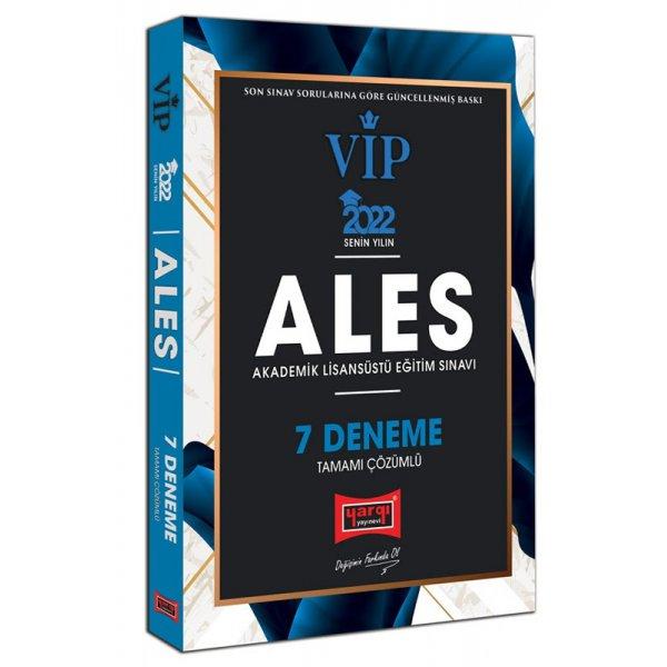 2022 ALES VIP Tamamı Çözümlü 7 Deneme Yargı Yayınları
