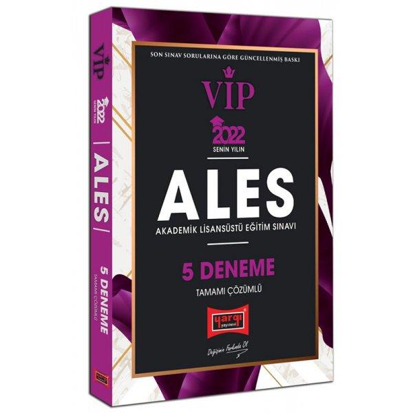 2022 ALES VIP Tamamı Çözümlü 5 Deneme Yargı Yayınları