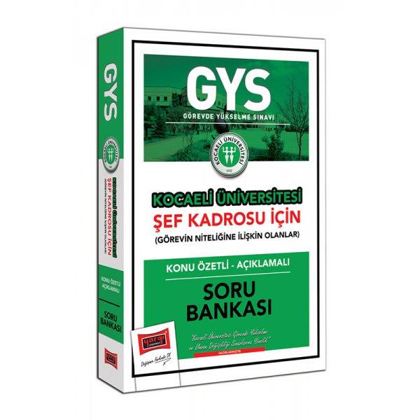 2021 GYS Kocaeli Üniversitesi Şef Kadrosu İçin Konu Özetli Açıklamalı Soru Bankası Yargı Yayınları