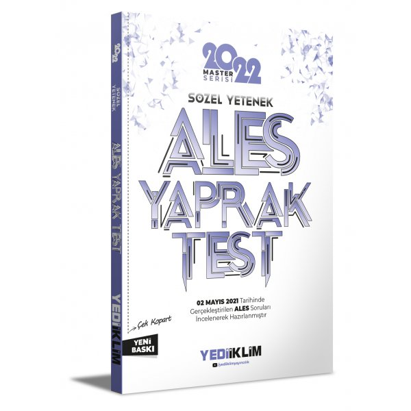 2022 ALES Sözel Yetenek Çek Kopart Yaprak Test Yediiklim Yayınları