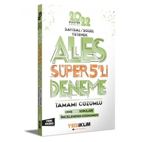 2022 Master Serisi ALES Sayısal- Sözel Yetenek Tamamı Çözümlü Süper 5'li Deneme Yediiklim Yayınları