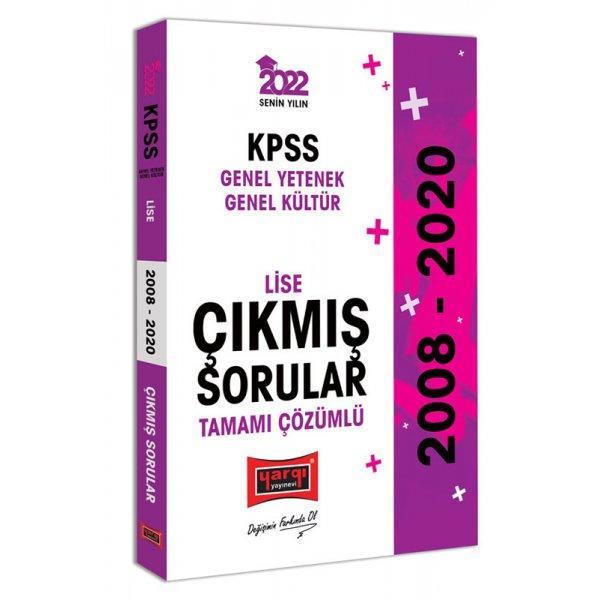 2022 KPSS GY GK Lise Tamamı Çözümlü Çıkmış Sorular Yargı Yayınları