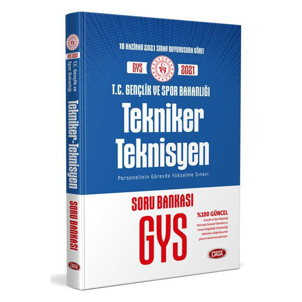 T.C. Gençlik ve Spor Bakanlığı Tekniker - Teknisyen UDS Soru Bankası Data Yayınları