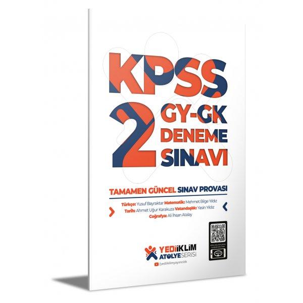 2021 Atölye Serisi KPSS Genel Yetenek Genel Kültür 2 Deneme Sınavı Yediiklim Yayınları