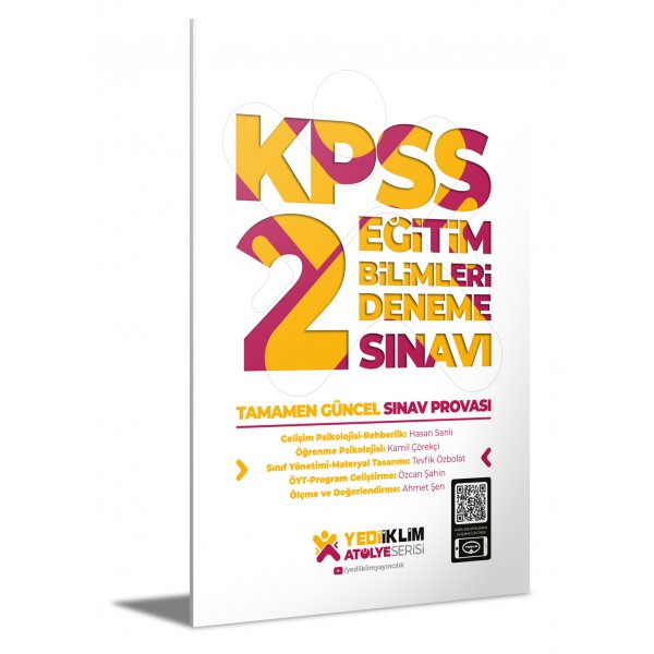 2021 KPSS Atölye Serisi Eğitim Bilimleri 2 Deneme Sınavı Yediiklim Yayınları