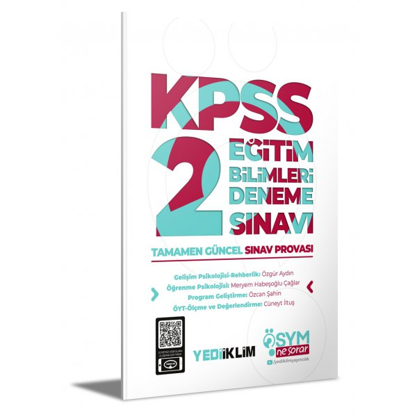 2021 ÖSYM Ne Sorar KPSS Eğitim Bilimleri 2 Deneme Sınavı Yediiklim Yayınları