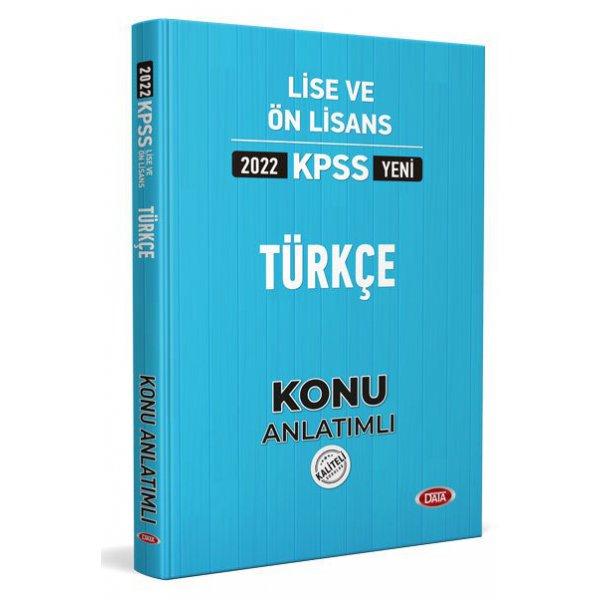 2022 KPSS Lise & Ön Lisans Türkçe Konu Anlatımlı Data Yayınları