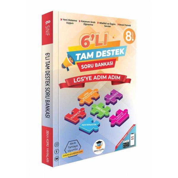 8.sınıf LGS 6'LI Tam Destek Soru Bankası Zeka Küpü Yayınları
