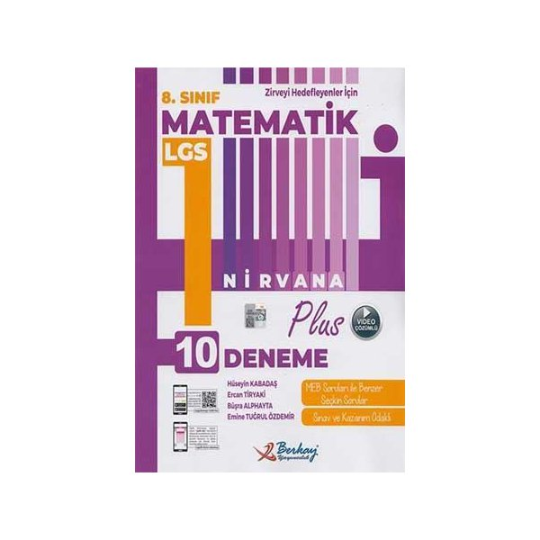 8. Sınıf LGS Matematik Nirvana Plus 10 Deneme Berkay Yayıncılık