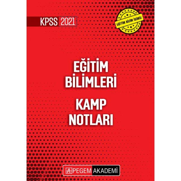2021 KPSS Eğitim Bilimleri Kamp Notları Pegem Yayınları