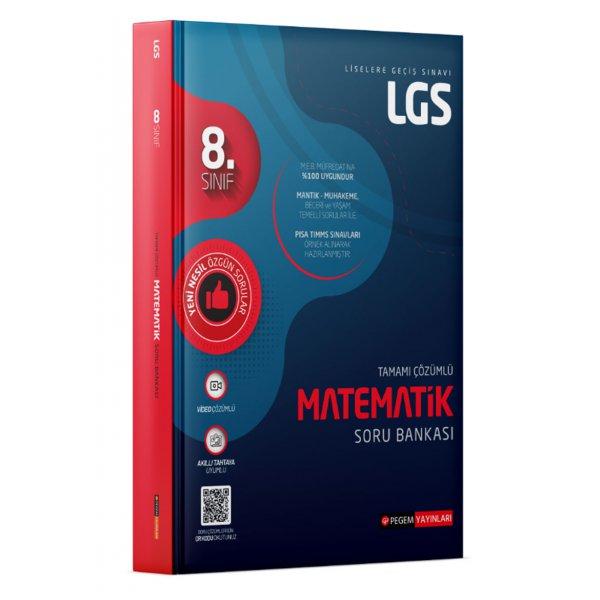 8. Sınıf LGS Matematik Tamamı Çözümlü Soru Bankası Pegem Yayınları
