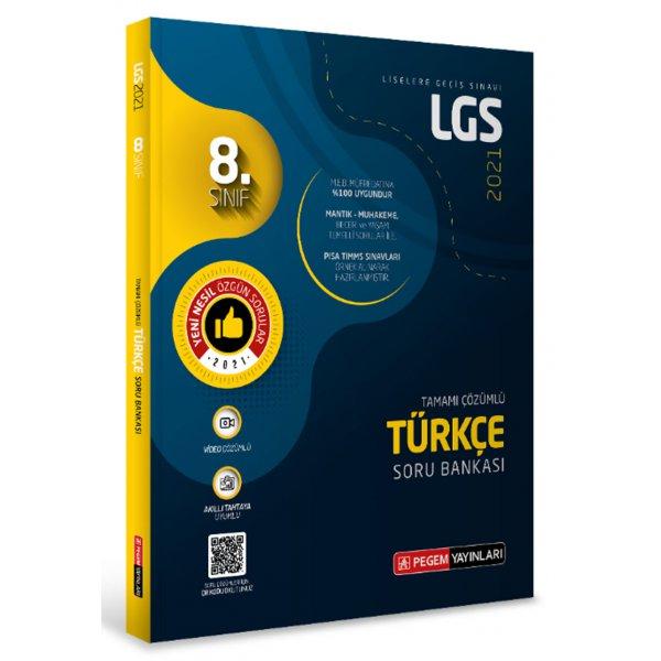 8.Sınıf LGS Türkçe Tamamı Çözümlü Soru Bankası Pegem Yayınları