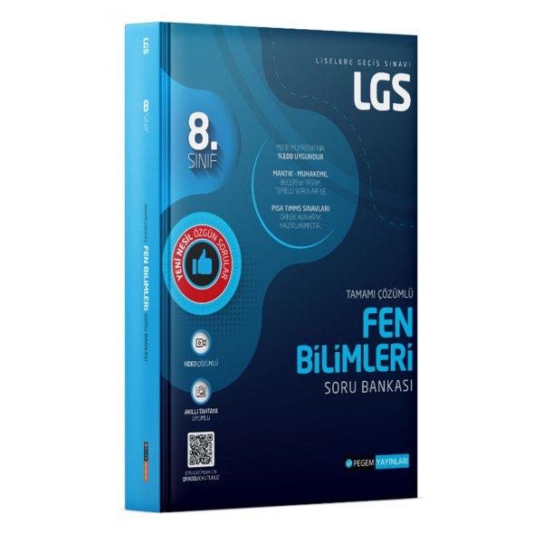 8. Sınıf LGS Fen Bilimleri Tamamı Çözümlü Soru Bankası Pegem Yayınları