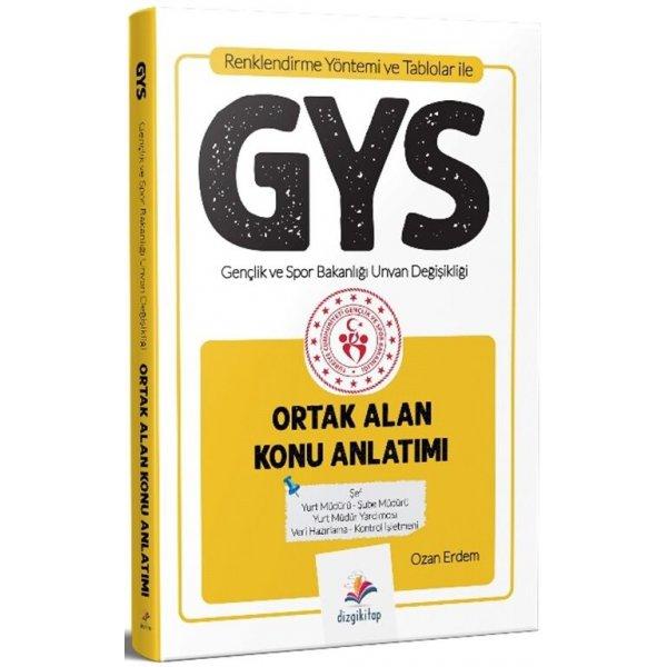 Dizgi Kitap GYS Gençlik ve Spor Bakanlığı Ortak Alan Konu Anlatımı